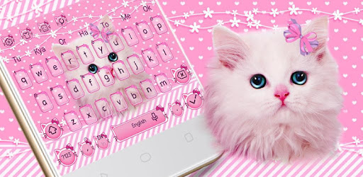 Cute Pink Kitty Keyboard for PC