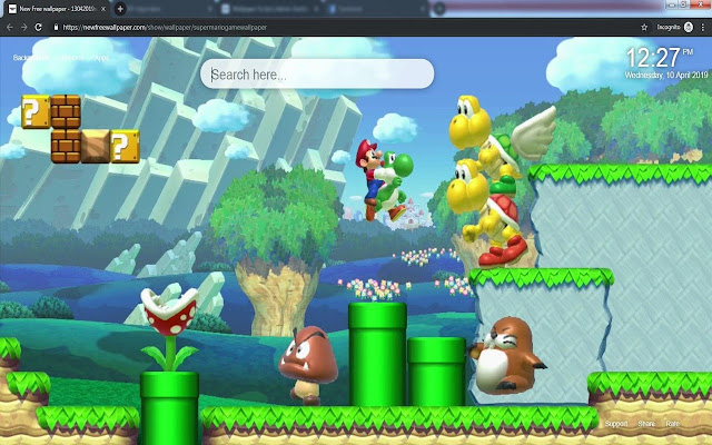 Super Mario Game HD wallpapers