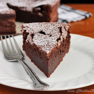 Almost Angelic Chocolate Souffle Cake.
