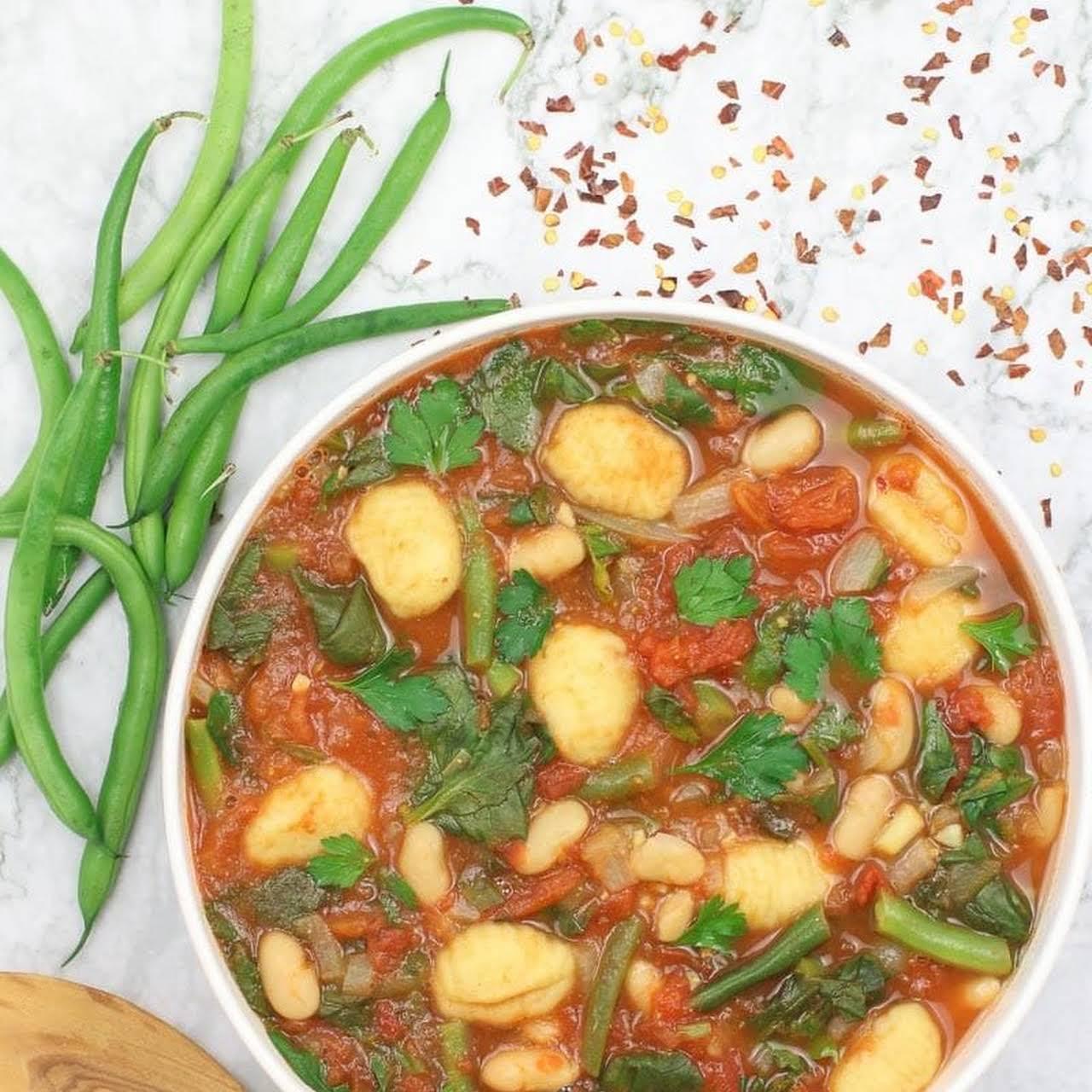 Easy Vegan Gnocchi Soup