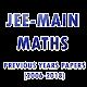 Previous Years JEE(main) Maths MCQ