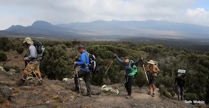 Photo: We headed ast across the plateau, Martha stoked as usual.