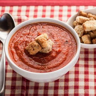 Tomato Soup with Roasted Red Peppers