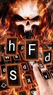 Téma klávesnice Fire Lebka - náhled