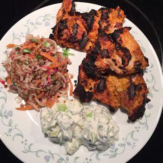 Tandoori Grilled Chicken with Mint Raita