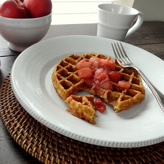 Whole Wheat Buttermilk Waffles with Stone Fruit Compote
