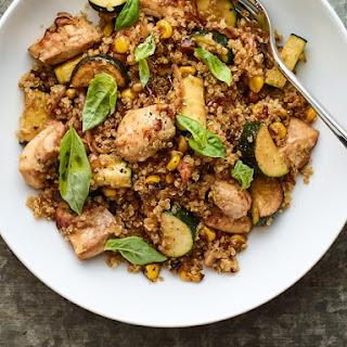Stir-Fried Quinoa With Chicken and Veggies.