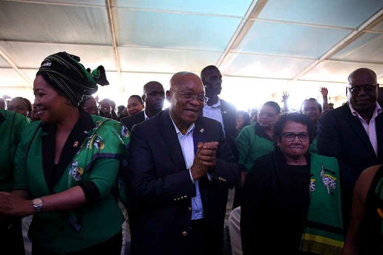 Former president Jacob Zuma at Winnie Madikizela-Mandela's memorial.