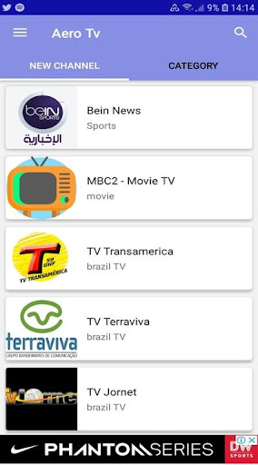 Aero Tv - Live TV 6.0.0 screenshots 1