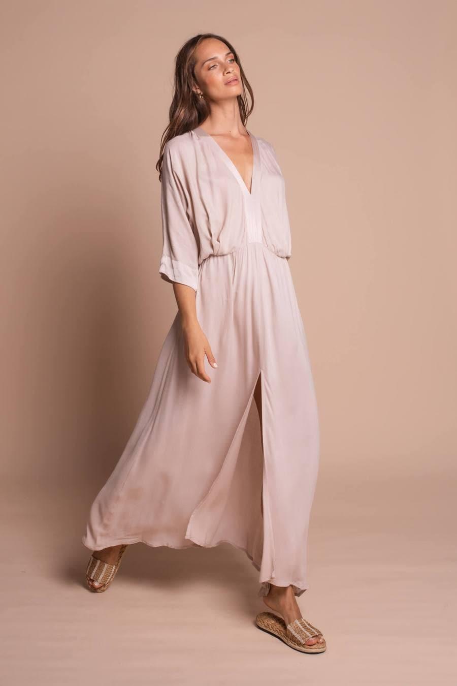 Elegant Maxi Dress in Cream