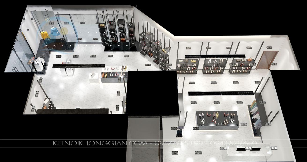 thiết kế cửa hàng giày dép 2