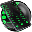 Theme for Drupe and RocketDial and ExDialer BGreen icon