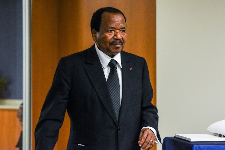 Cameroon's president Paul Biya at the 72nd United Nations General Assembly in New York City, US September 22 2017.