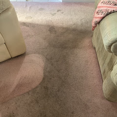 dirty carpet before