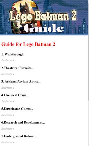Guide for Lego Batman 2