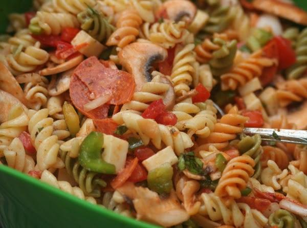 Pizza Pasta Summer Salad Recipe