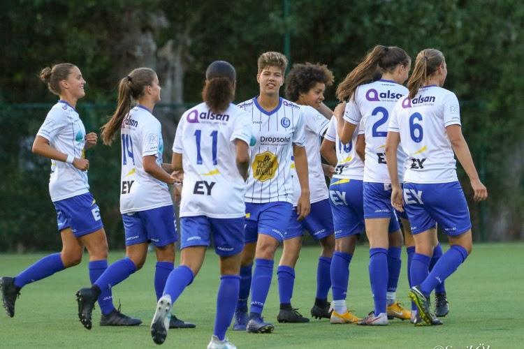 KAA Gent Ladies kloppen team uit Eredivisie