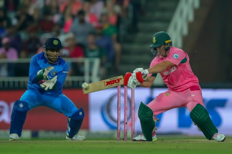 AB de Villiers of South Africa batting during the 4th Momentum ODI match between South Africa and India at Bidvest Wanderers on February 10, 2018 in Johannesburg.
