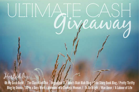 Ultimate Cash Giveaway ends 3/19