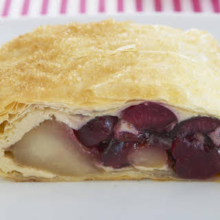 Cherry and Pear Strudel.