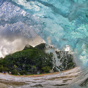 Foamy Lip by James Bokovoy - Nature Up Close Water ( kauai, bodysurfing, surfing, wave, ocean, surf, saltwater, bodyboarding, hawaii )