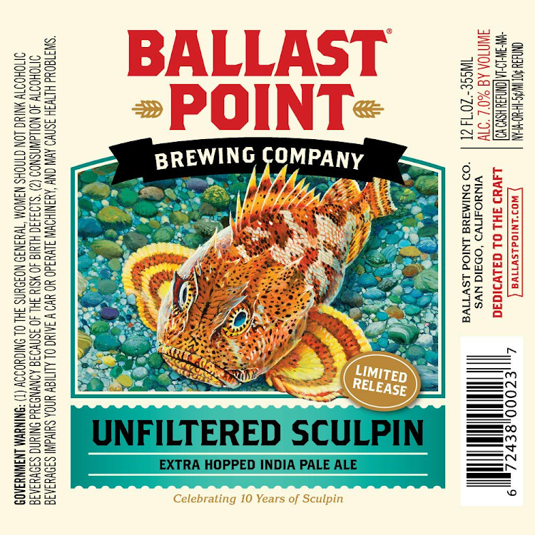 Logo of Ballast Point Unfiltered Sculpin