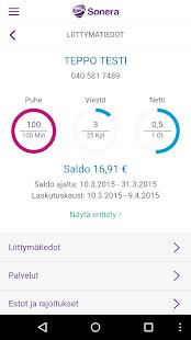 Minun Sonera – Android-sovellukset Google Playssa