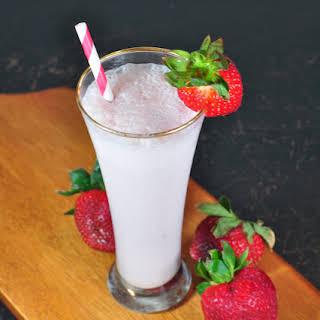 Fresh Strawberry Cream Cheese Shake.
