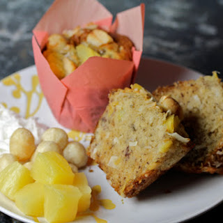 Pineapple Coconut Muffins with Macadamias
