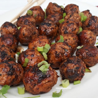 Asian Chicken Meatballs.