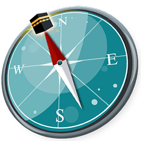 Arah kiblat with Salah Times, qibla compass