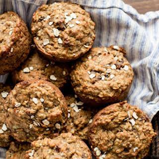 Super Healthy Banana Oatmeal Muffins.