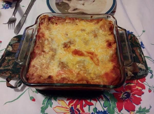 Speghetti Squash And Pasta Casserole