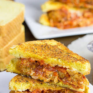 Meatball Parm Grilled Cheese.