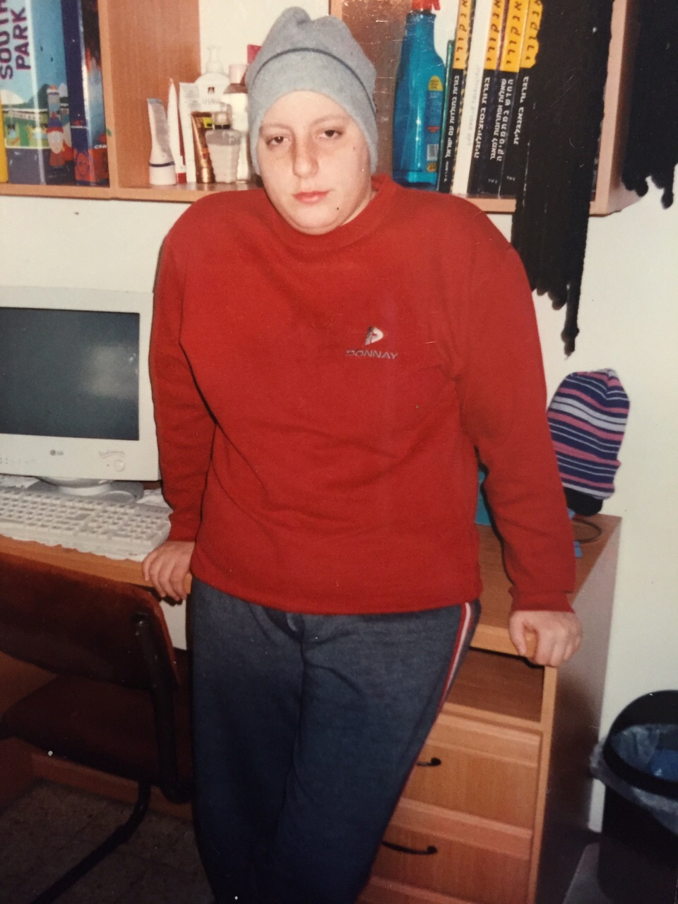 Miri Torres in May 2001, weak with cancer