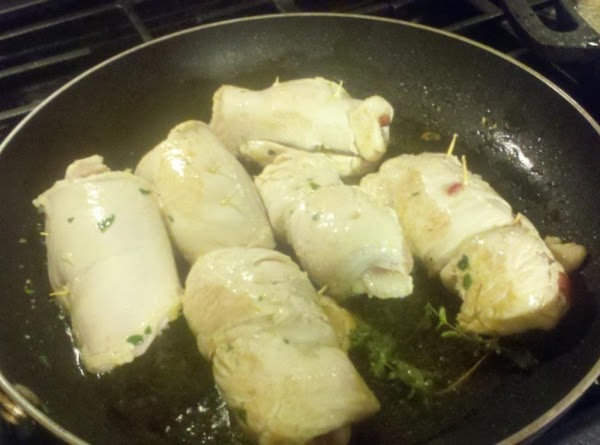 In a saute pan, add 3 Tbls of olive oil and heat pan. Once...
