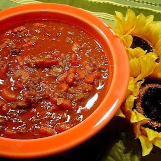 Hearty Beef and Chorizo Chili.