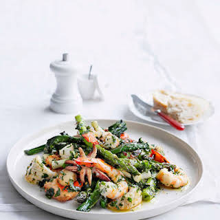 Seafood Salad With Herb Dressing.