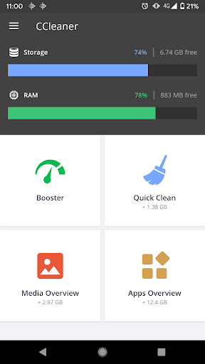 CCleaner: Cache Cleaner, Phone Booster, Optimizer 4.22.1 screenshots 1