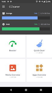 CCleaner: Cache Cleaner, Phone Booster, Optimizer (MOD, Pro) v5.5.0 1