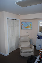 Photo: Jeff's recliner and connectivity closet.