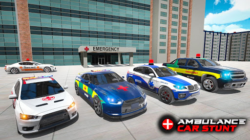 Ambulance Car Stunts: Mega Ramp Stunt Car Games 2.1 screenshots 8