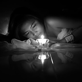 CANDLE LIGHT by Adhy Winata - People Portraits of Women