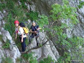 Photo: ispred odmorišta u stijeni