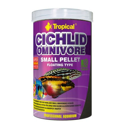 Tropical Cichlid Omnivore Small Pellet 1000ml/360g