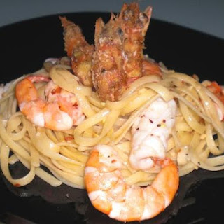 Twin Prawn Linguine