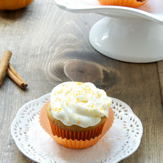 Pumpkin And Peanut Butter Cupcakes