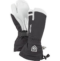 Army Leather Heli Ski 3-Fingerhandske Svart