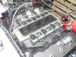 Photo: hier de inlaat van de 4 de motor zoals je ziet is het kanaal helemaal schoon dus geen schade...
