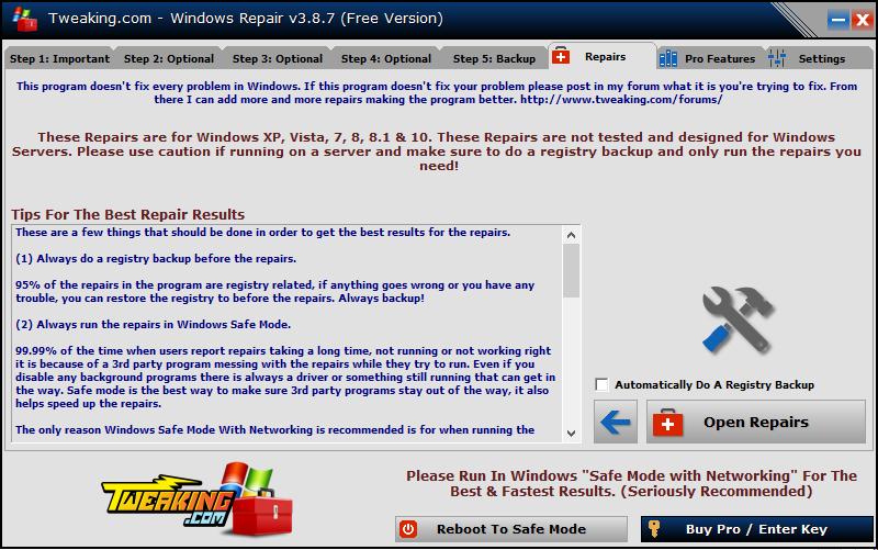 Phần mềm Windows Repair Pro 3.9.35